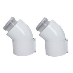COUDE C PP 60-100 45° X2 VAILLANT