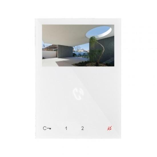 COMELIT MONITEUR MINI COULEURS MAIN LIBRES blanc 6721W