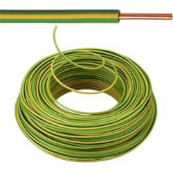 KABEL - VOB - Eca Fil d'installation - 2,5 mm² - Jaune/Vert ( H07V-U ) 100m