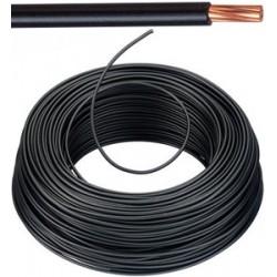 KABEL - VOB Fil d'installation - 6 mm² - Noir (H07V-U) 100m