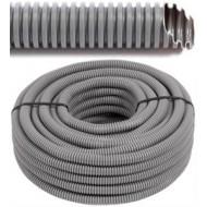 FLEX - Tube flexible avec du fil de traction - vide - tube gris Ø 16 mm