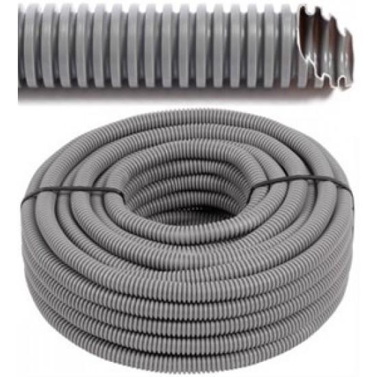 FLEX - Tube flexible avec du fil de traction - vide - tube gris Ø 20 mm