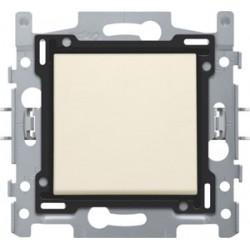 NIKO - Interrupteur unipolaire, socle et set de finition, cream/blanc