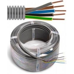 FLEX - Tube précâblé - Fil d'installation VOB - 5G2,5 mm² - tube gris Ø 16 mm