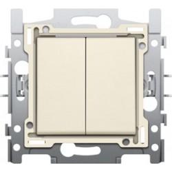 NIKO - Interrupteur double allumage, socle et set de finition Cream/blanc