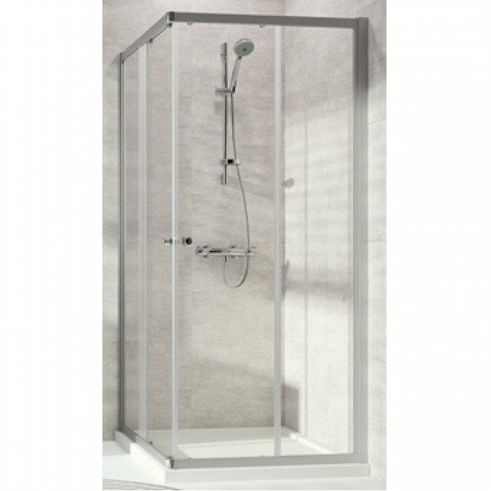 huppe alpha 2 acc s angle 80cm argent. Black Bedroom Furniture Sets. Home Design Ideas