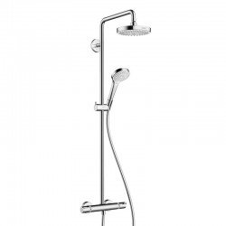 Hansgrohe CROMA SELECT S 180 SHOWERPIPE BL/CHR
