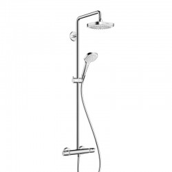 Hansgrohe CROMA SELECT E 180 SHOWERPIPE BL/CHR