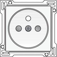 NIKO - Set de finition pour prise de courant avec broche de terre et sécurité-enfants, profondeur d'encastrement de 28,5 mm,