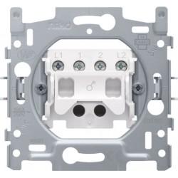 NIKO - Socle pour un interrupteur bipolaire, un interrupteur à témoin bipolaire ou un interrupteur à tirette bipolaire 10 AX/250 Vac