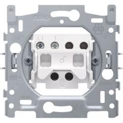 NIKO - Socle pour interrupteur unipolaire ou interrupteur à témoin unipolaire, 10 AX/250 Vac